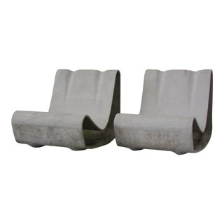 Willy Guhl Eternit Garden Chairs - a Pair