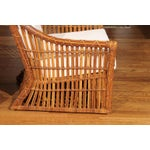 Image of Magnificent Pair of Restored Vintage Rattan Club Chairs by McGuire