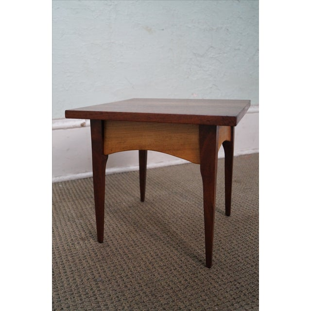 Hand-Crafted Solid Walnut Side Table - Image 9 of 10