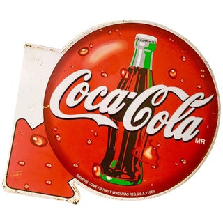 Vintage Coca-Cola Metal Advertising Sign