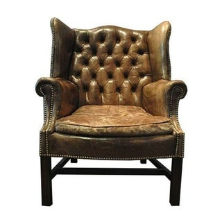 Early 1900's Antique Edwardian Wingback