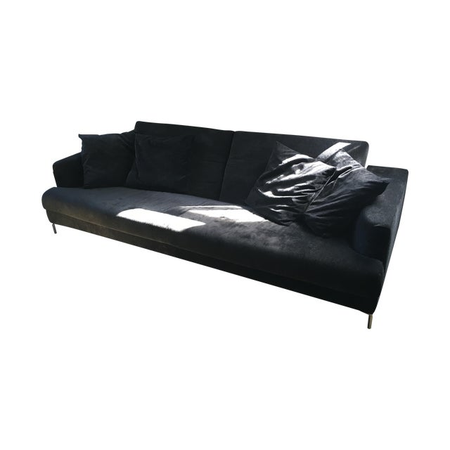 B&B Italia Black Sofa - Image 1 of 7