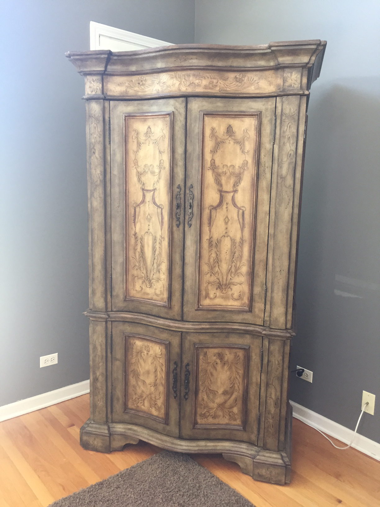 Hooker Furniture Hand Painted Armoire   Image 2 Of 8