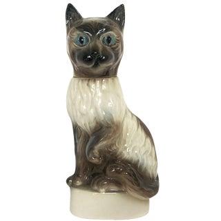 1960s Ceramic Cat Decanter