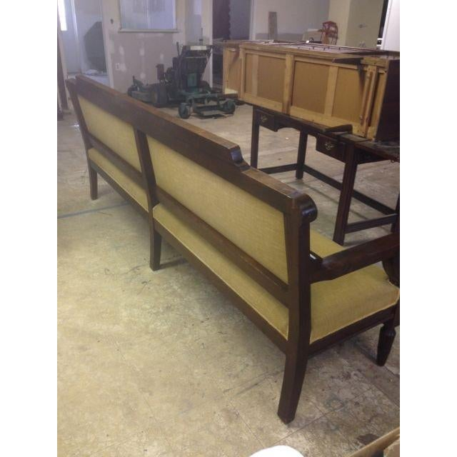Image of Solid Mahogany Antique Industrial Bench