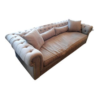 HD Buttercup Taupe Tufted Chesterfield Sofa