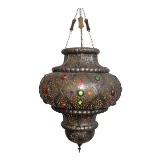 Antique Moroccan Bronze Lantern