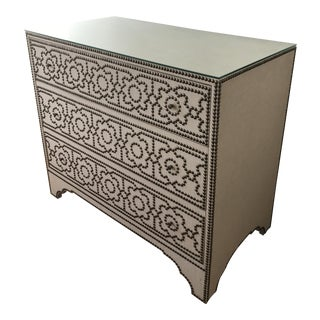 Bernhardt Linen & Nailhead Detail Chest