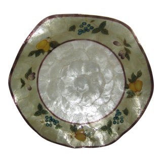 Antique Mikasa Ivory Fruit Painted Decorative Plate