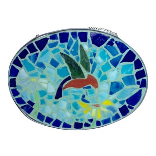 Hummingbird Glass Mosaic Placque