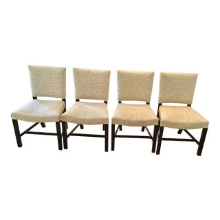 Transitional Walnut Side Chairs - Set of 4