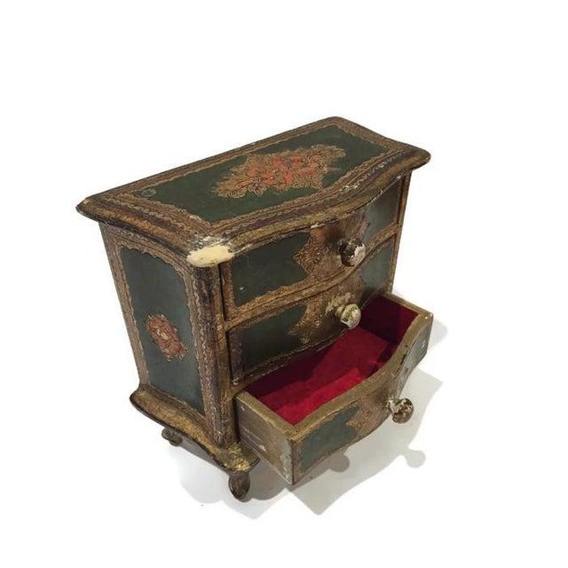 Image of Vintage Italian Florentine Style Jewelry Chest