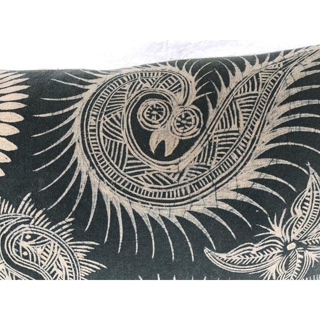 Asian Serpent Gray Batik Pillows - A Pair - Image 6 of 11