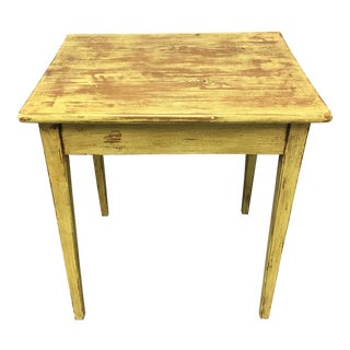 Logia Home Distressed Finish Yellow Side Table