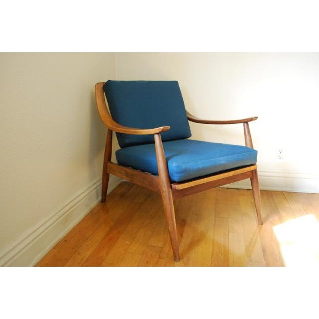 Image of Danish Modern Vintage Lounge Chair With New Upholstery by Peter Hvidt