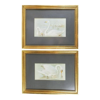 1914 Swan Lithographs - A Pair