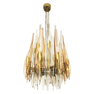"""Dahlia"" Chandelier by Max Ingrand for Fontana Arte, 1954"