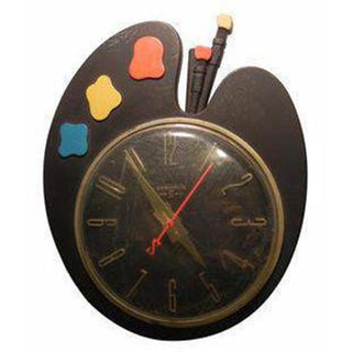 Art Deco Paint Palette Clock