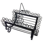 Image of Filigree Wrought Iron Style Magazine Rack