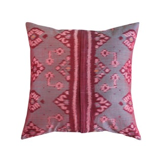 Woven Pandawa Rouge Balinese Ikat Pillow Case