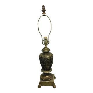 Antique Gothic Bronze Lamp
