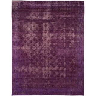 """Vintage Persian Overdyed Rug - 9'4"""" x 12'2"""""""