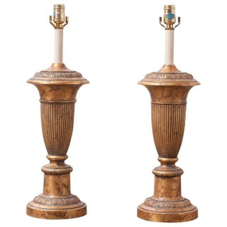 Neoclassical Brass Urn Stiffel Table Lamps - Pair