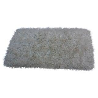 """Vintage Wool Flokati Rug - 2'10"""" X 5'"""