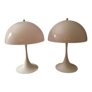 Louis Poulsen/Verner Paton Designed Panthella Table Lamps - a Pair