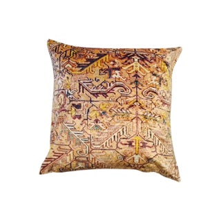 Patterned Velvet Print Pillow