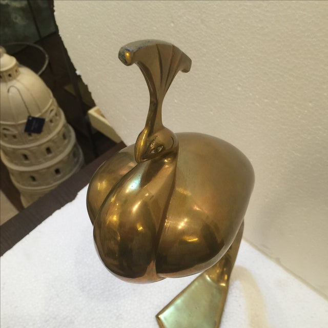 Vintage Brass Peacock - Image 5 of 6