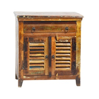 Reclaimed Wood Side Cabinet with Drawer