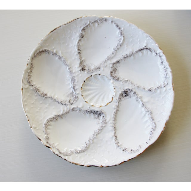 Vintage Majolica Oyster Plates - Set of 4 - Image 2 of 9