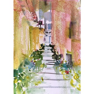Lisbon Original Watercolor Painting