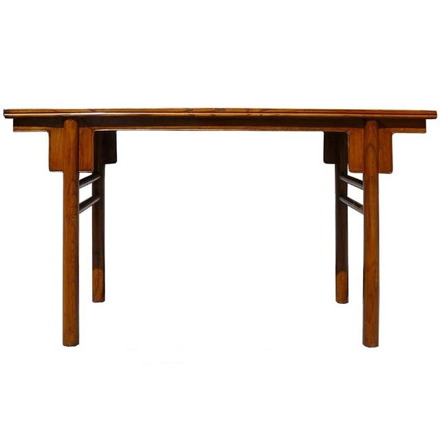 Natural Wood Console Table ~ Chinese natural wood altar console table chairish