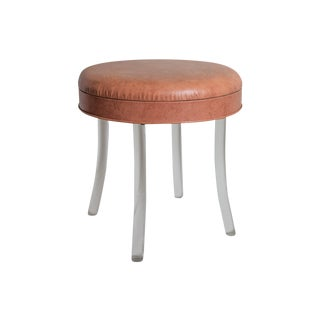 Vanity Stool with Lucite Legs