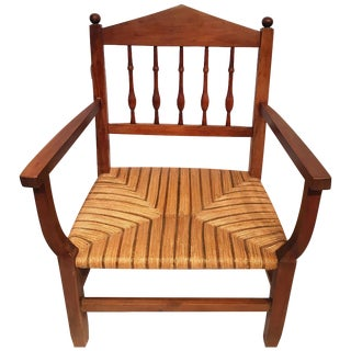 Vintage Caned Armchair