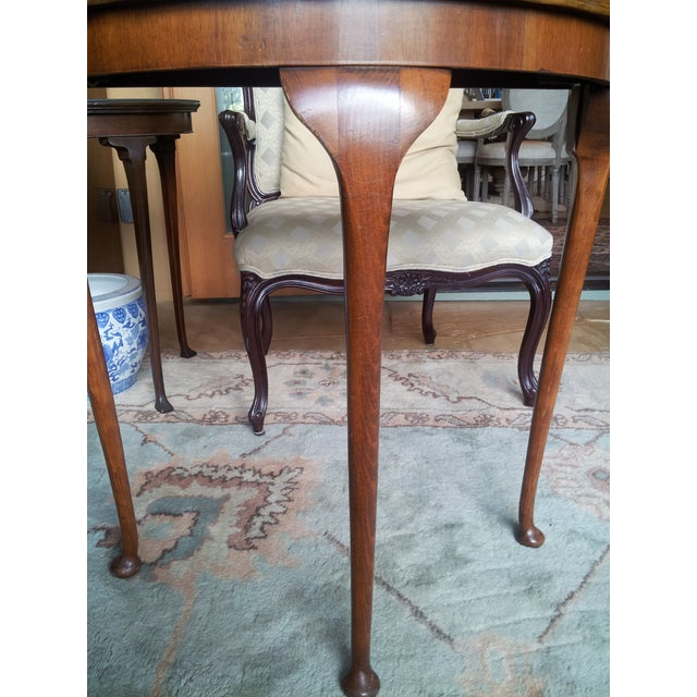 19th Century Cherry Wood Demilune Table - Image 3 of 6