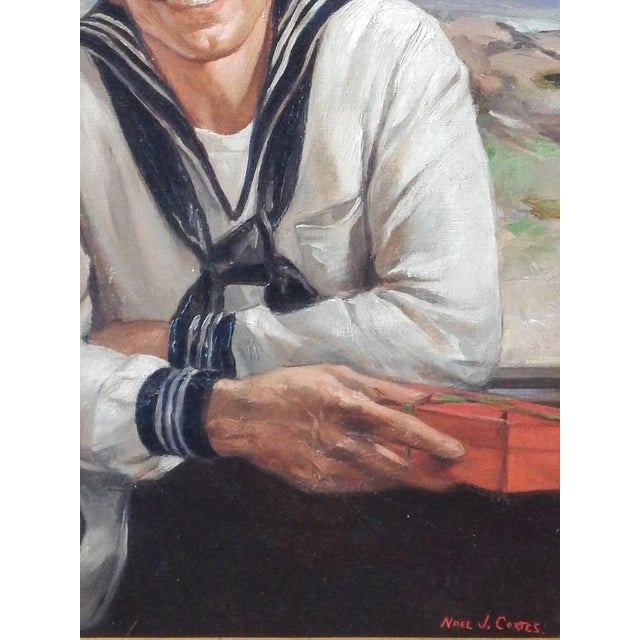 """On Shore Leave"" by Listed Gay Artist, Noel J. Cortes. - Image 4 of 6"