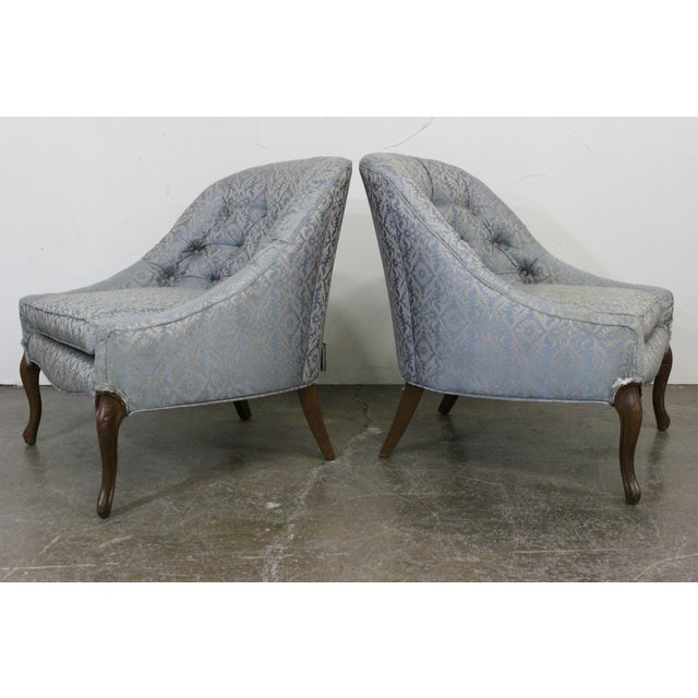 Petite Mid-Centruy Slipper Chairs - A Pair - Image 4 of 6
