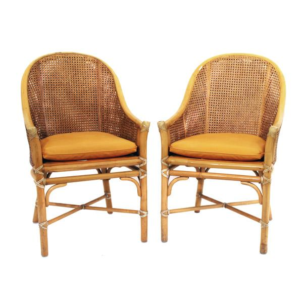McGuire Rattan and Cane Dining Set - Image 2 of 10