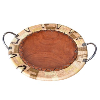 Native American Tray weaving & Wood