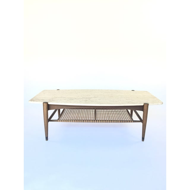 Folke Ohlsson for Dux Travertine Cocktail Table - Image 3 of 6