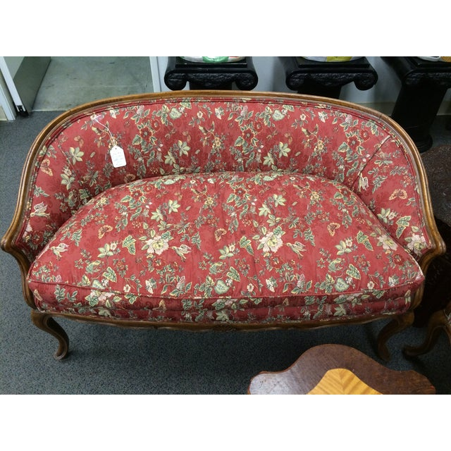 1800's Down-Cushion Settees with Maple Frame - Two - Image 2 of 5