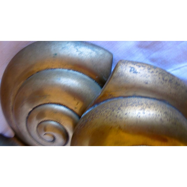 Brass Shell Bookends - Image 7 of 8