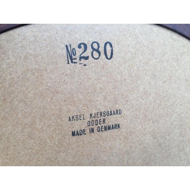 Aksel Kjersgaard for Odder Round Rosewood Mirror - Image 8 of 8