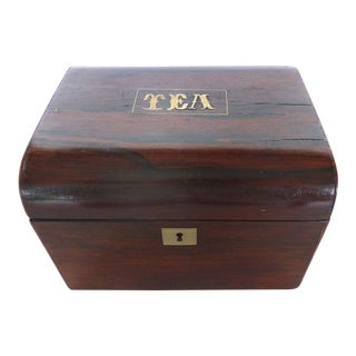 English Inlaid Rosewood Tea Caddy, circa 1830