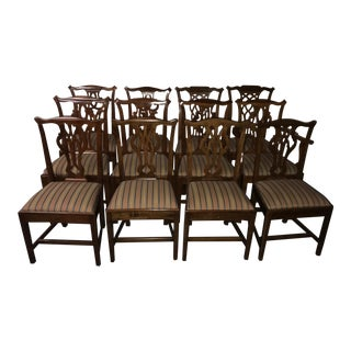 Assembled George III Yew Wood, Birch & Walnut Dining Chairs - Set of 12