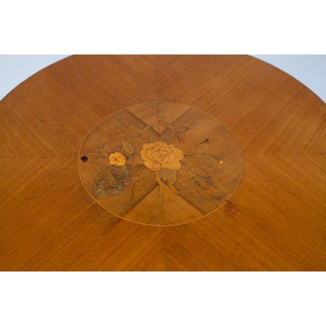 1900s French Louis XVI Style Mahogany Side Table - Image 10 of 10