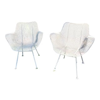Russell Woodard Wire Mesh Chairs - A Pair
